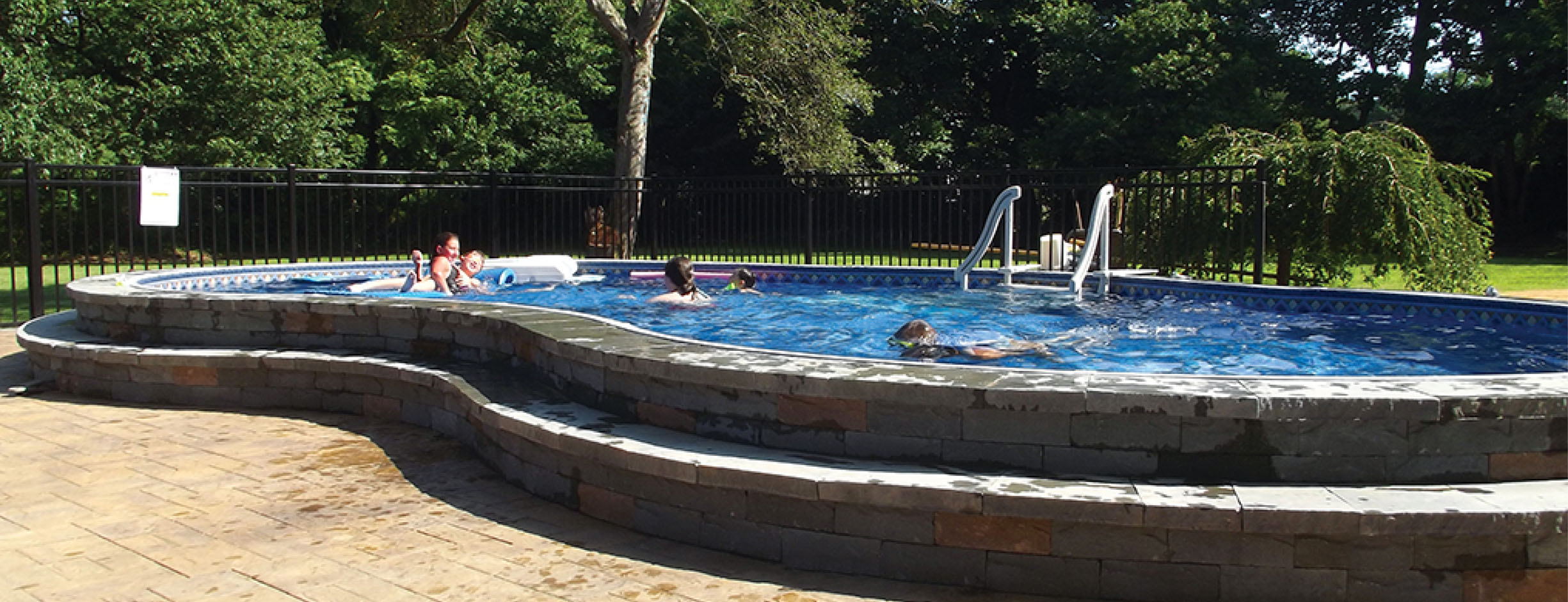 Above ground pools cryer pools spas inc - How to build an above ground swimming pool ...